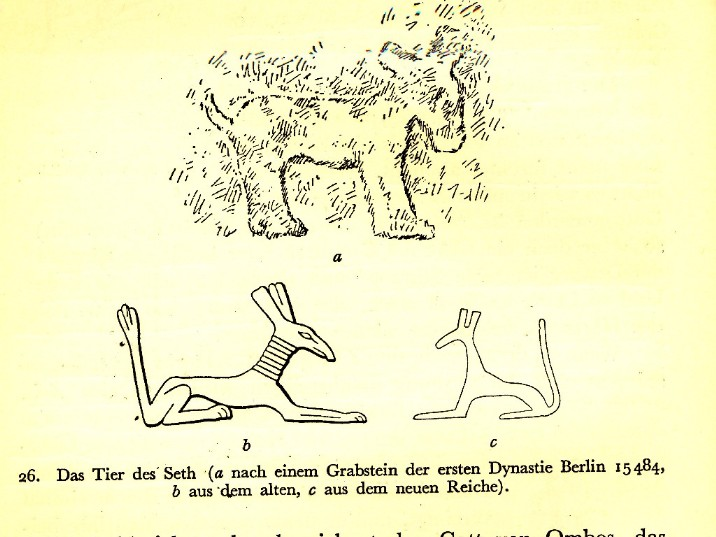 Der Ägyptische Gott Seth als Esel und Seth Tier!